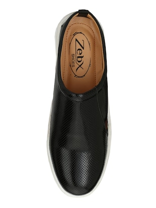 black Leatherette casual slipon - 15025988 - Standard Image - 4