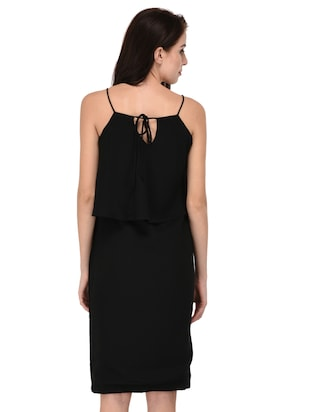 black solid layered dress - 15026744 - Standard Image - 4