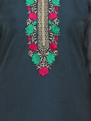 grey embroidered unstitched suit - 15029083 - Standard Image - 4