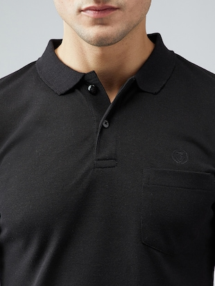 black cotton pocket t-shirt - 15030934 - Standard Image - 4