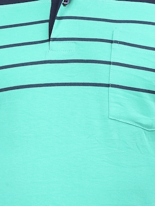 light blue cotton pocket t-shirt - 15032372 - Standard Image - 4