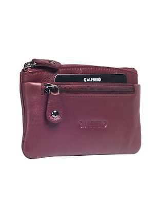 maroon leather wallet - 15032667 - Standard Image - 4