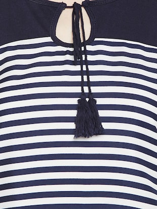navy blue striped top - 15034194 - Standard Image - 4