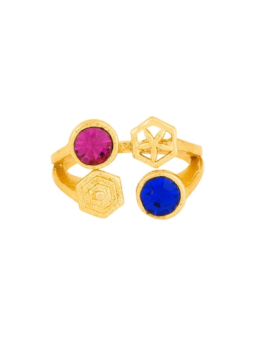 Gold brass hand ring - 15042145 - Standard Image - 1