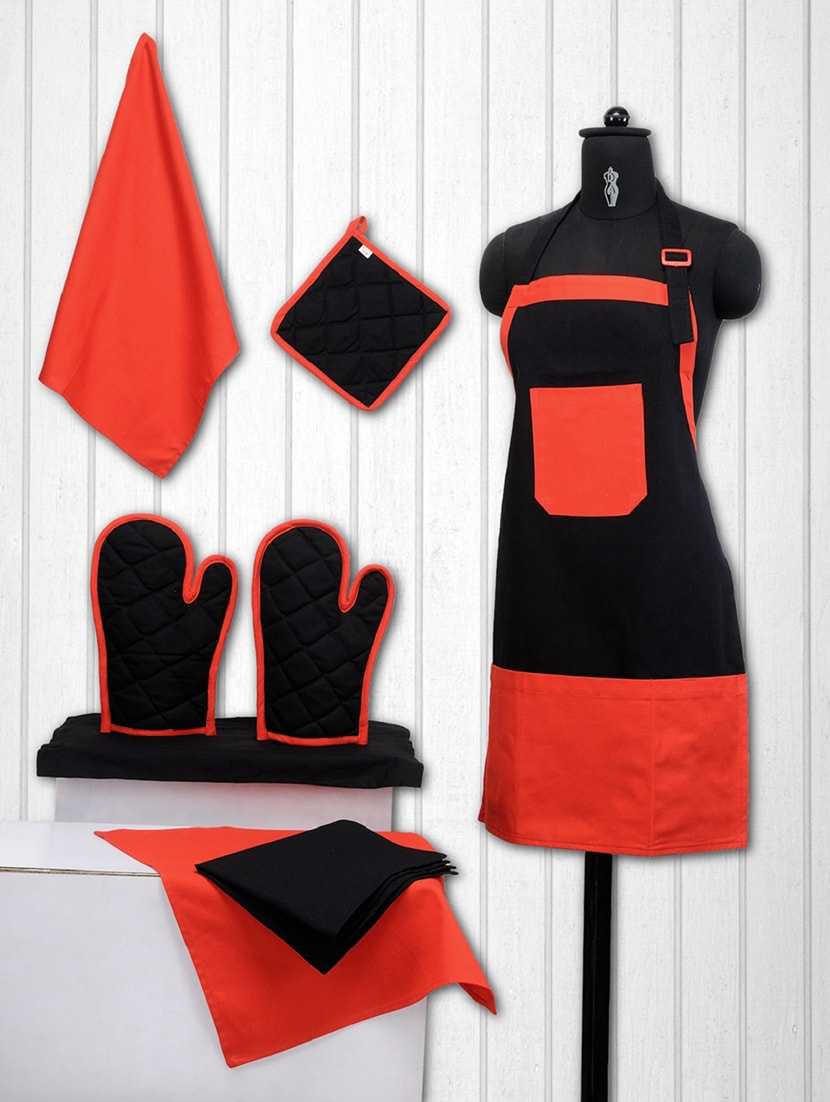 Buy Solid Cotton Kitchen Set Of 8 By Swayam Online Shopping For
