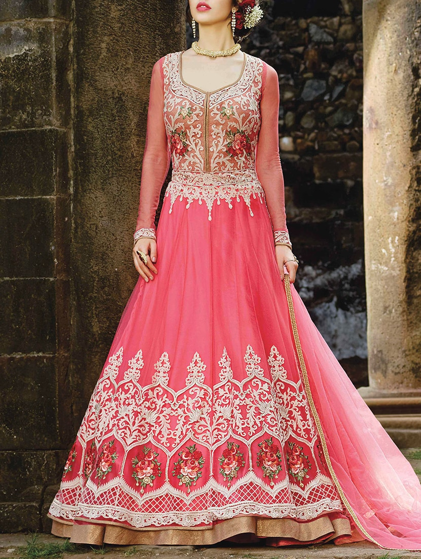 1e1dbf74b15 Buy Embroidered Semi-stitched Anarkali Suit for Women from The Fashion  Attire for ₹9070 at 50% off