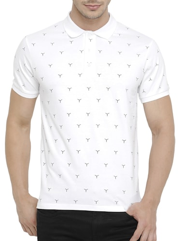 white cotton all over print tshirt - 15046638 - Standard Image - 1