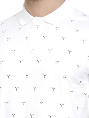white cotton all over print tshirt - 15046638 - Standard Image - 4