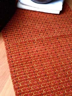 Cotton Knitted Mat -brown - Laurel Home