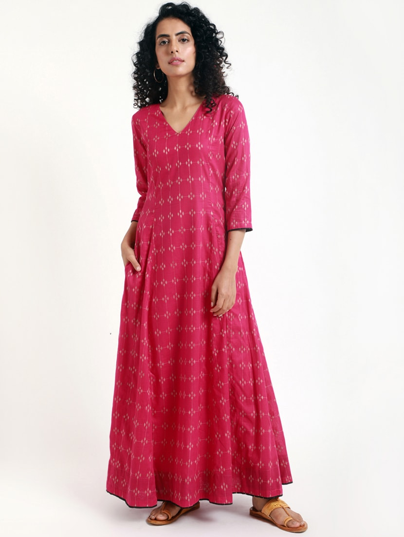 7a64f5361 Cotton Maxi Dress With Sleeves India - raveitsafe