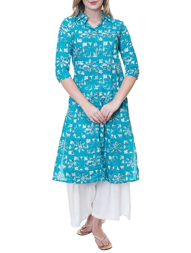8de3fda44 Buy A-line Multi Checks Kurta for Women from Jompers for ₹600 at 29% off