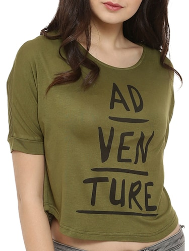 raglan sleeves quirky print tee - 15060700 - Standard Image - 1