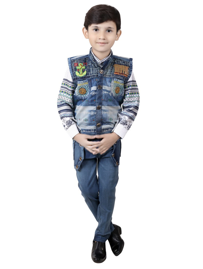ae4c1bf7847 Buy Blue Denim Full Length Set by Kbkidswear - Online shopping for ...