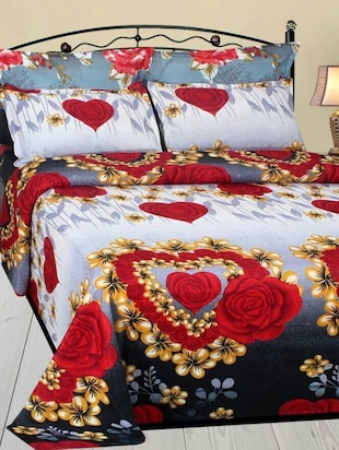 Floral Bed Sheets   Buy Floral Bed Sheets Online At Best Prices In India    LimeRoad.com