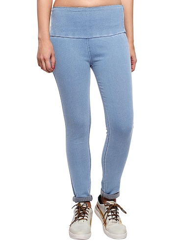 5489a643a Buy Set Of 4 Multi Colored Cotton Jeggings for Women from Timbre for ₹2997  at 0% off