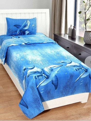 PolyCotton Single Bedsheet With 1 Pillow Cover - 15078395 - Standard Image - 1