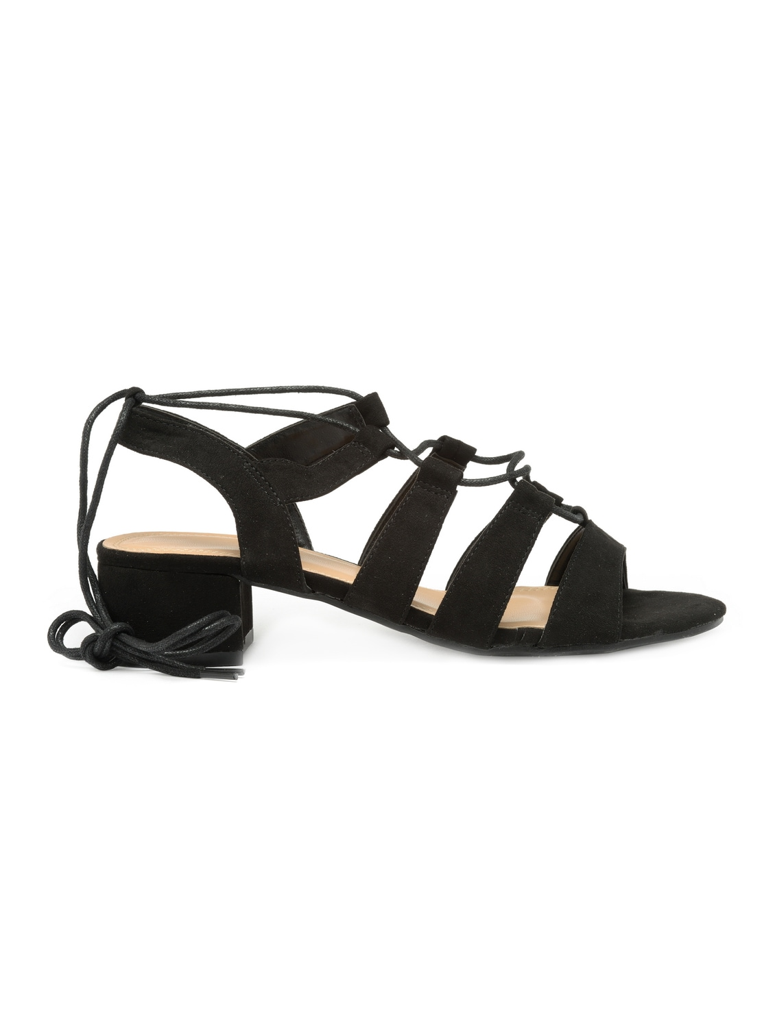 53c9b5ff13eb Buy Black Suede Laceup Sandals for Women from Flat N Heels for ₹1535 at 52%  off