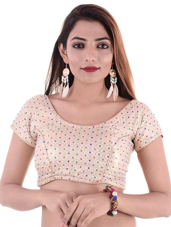 3e488480700c1 ... Buy Gold Silk Brocade Blouse by Shree Ganesham Arts Online