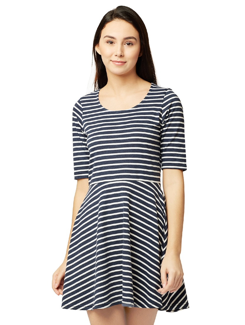 43e5ae7735e4 Buy Striped Skater Dress for Women from Miss Chase for ₹691 at 37% off