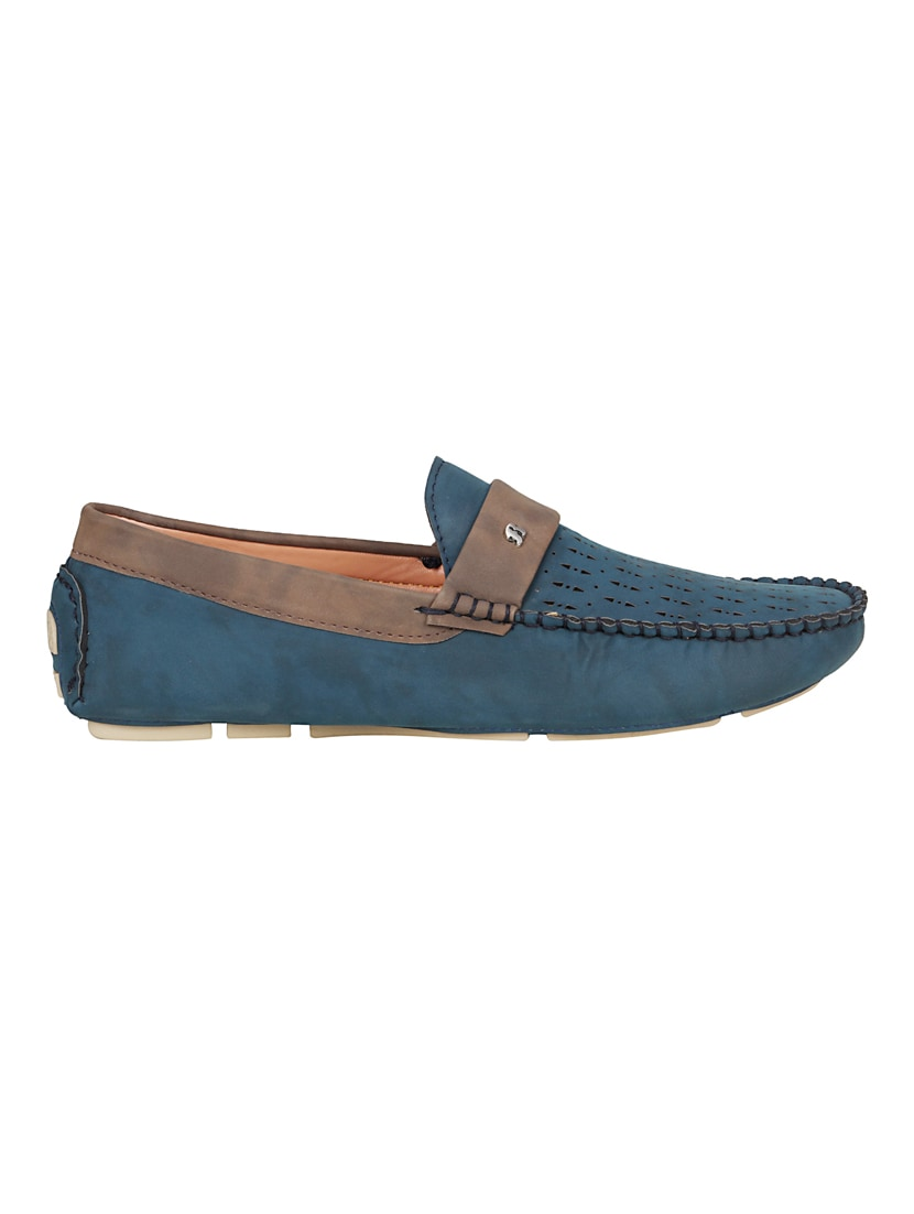 18f3a5d3eb6 Buy Blue Leatherette Slip On Loafer by Bachini - Online shopping for Loafers  in India