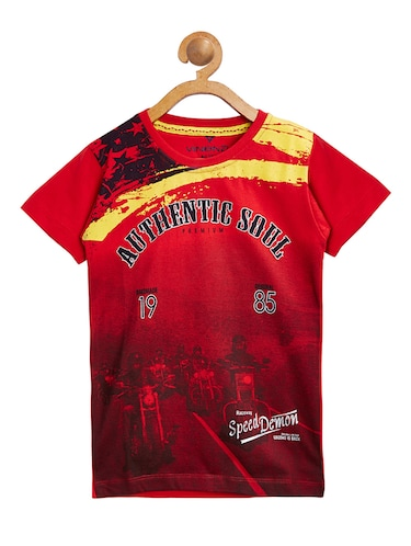 red cotton tshirt - 15093831 - Standard Image - 1