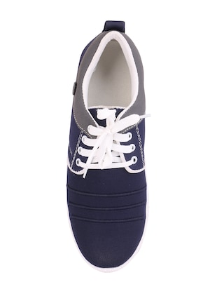 blue Canvas lace up sneaker - 15093977 - Standard Image - 4