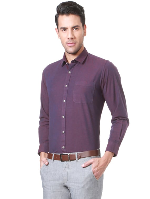 ebf4e9c48 Buy Purple Cotton Formal Shirt for Men from Peter England for ₹784 at 51%  off