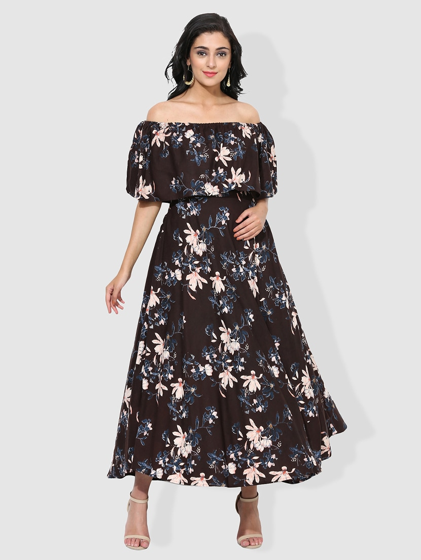 7976f837bd169f Buy Fusion Off Shoulder Kurta for Women from Get Glamr for ₹1381 at 57% off