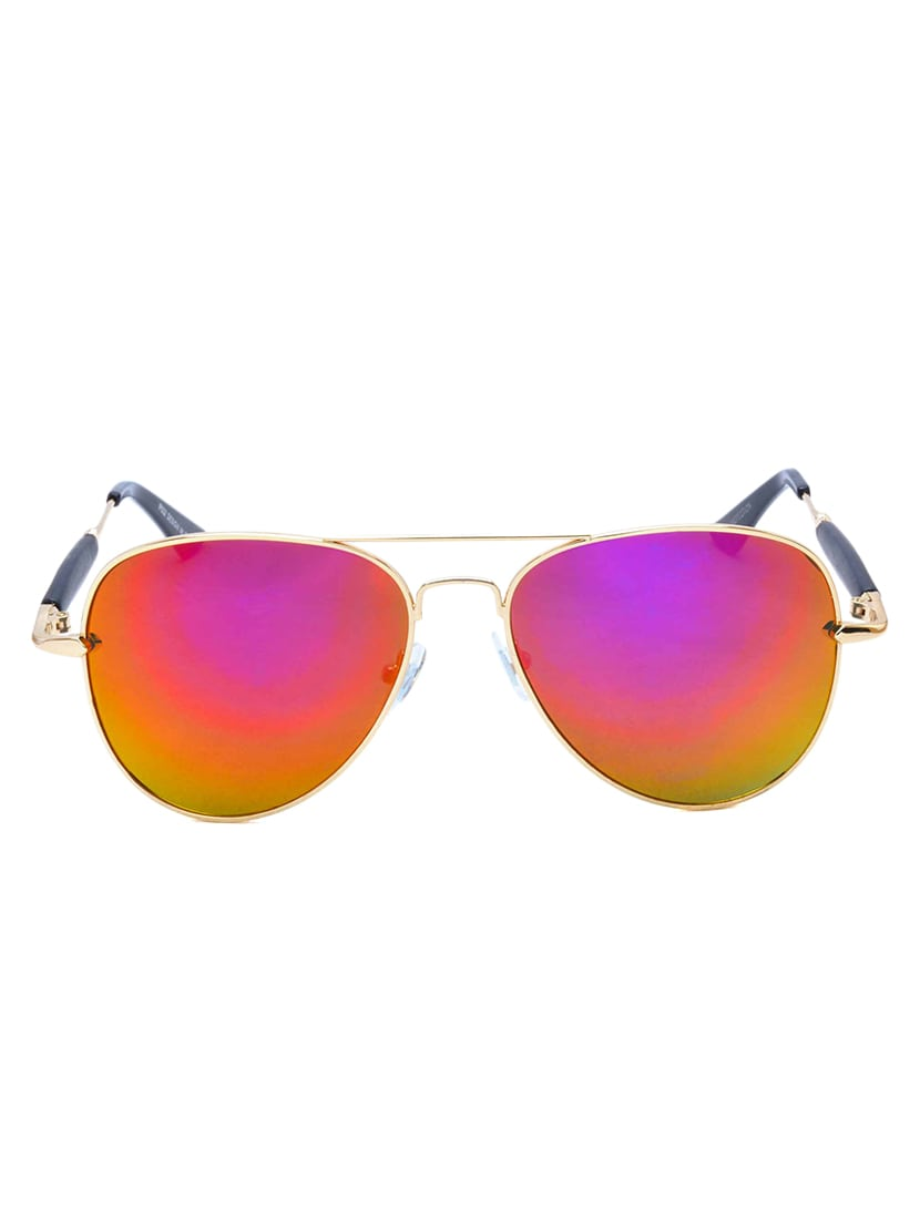 ebcdbf8a66bed Buy Stacle Flash Mirror Rubber Temple Pilot Sunglasses (st10502