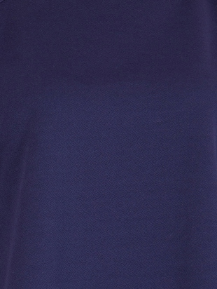 navy blue solid cape sleeved top - 15108554 - Standard Image - 4