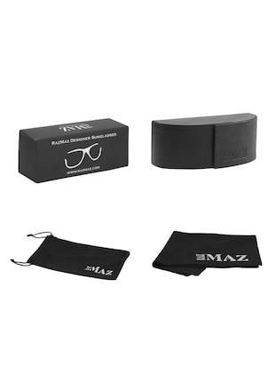 Semi Rimless Polorized Classic Club master Vintage Retro Design Brand with Sunglass Case - 15110838 - Standard Image - 4