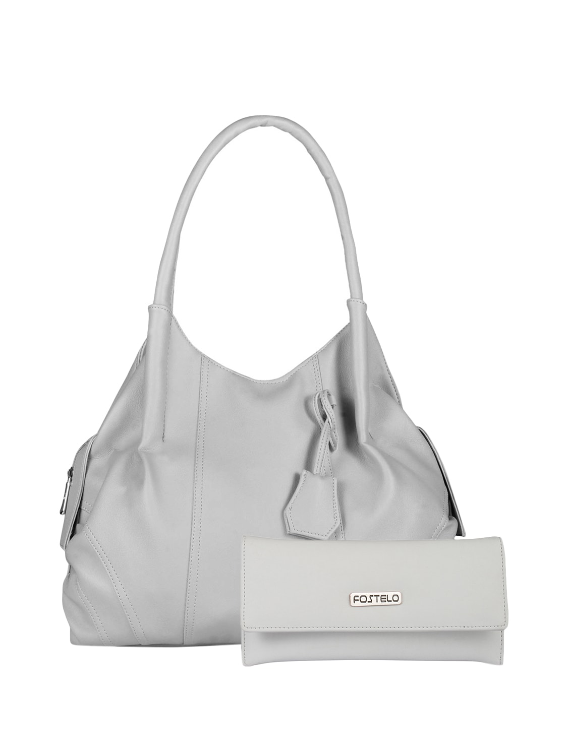 fc000fa1f23 Buy Grey Leatherette (pu) Combo Handbag for Women from Fostelo for ₹899 at  72% off | 2019 Limeroad.com