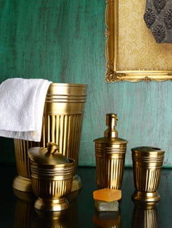 Royal Antique Gold Bath Accessories - Set Of 4 - Lohia's