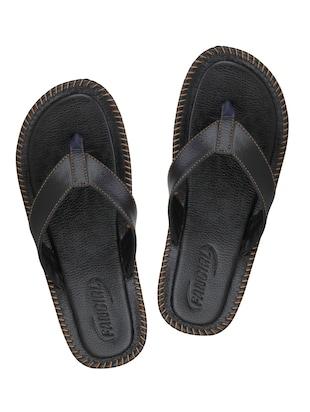 5a30b6b9c557 black Leatherette toe separator slipper - Online Shopping for Slippers