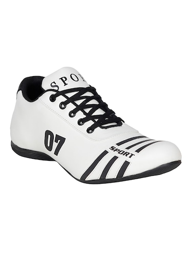 white leatherette sport shoe - 15115666 - Standard Image - 1