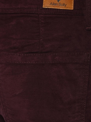 maroon cotton chinos - 15116051 - Standard Image - 4