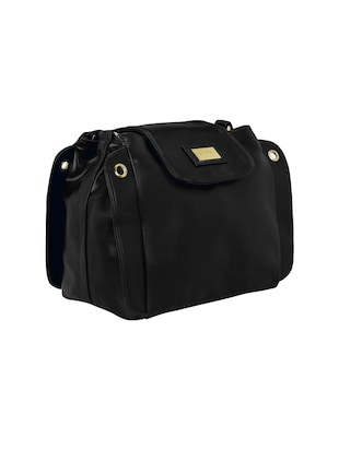 black leatherette  regular sling bag - 15116758 - Standard Image - 4