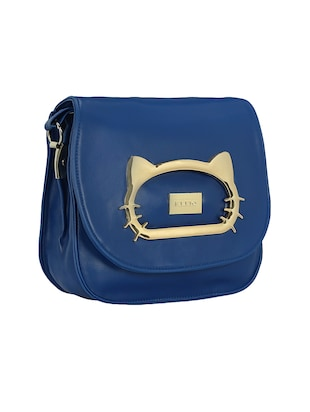 blue leatherette  regular sling bag - 15116773 - Standard Image - 4