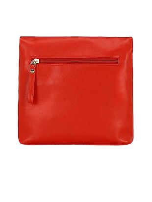 red leatherette  regular sling bag - 15116775 - Standard Image - 4