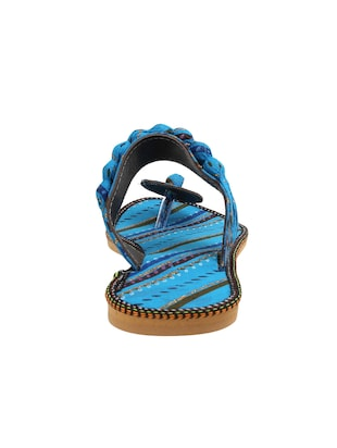 blue fabric ethnic sandals - 15116795 - Standard Image - 4