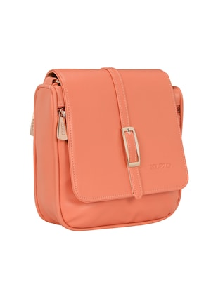 pink leatherette regular sling bag - 15116991 - Standard Image - 4