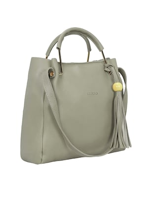 grey leatherette tote - 15117130 - Standard Image - 4