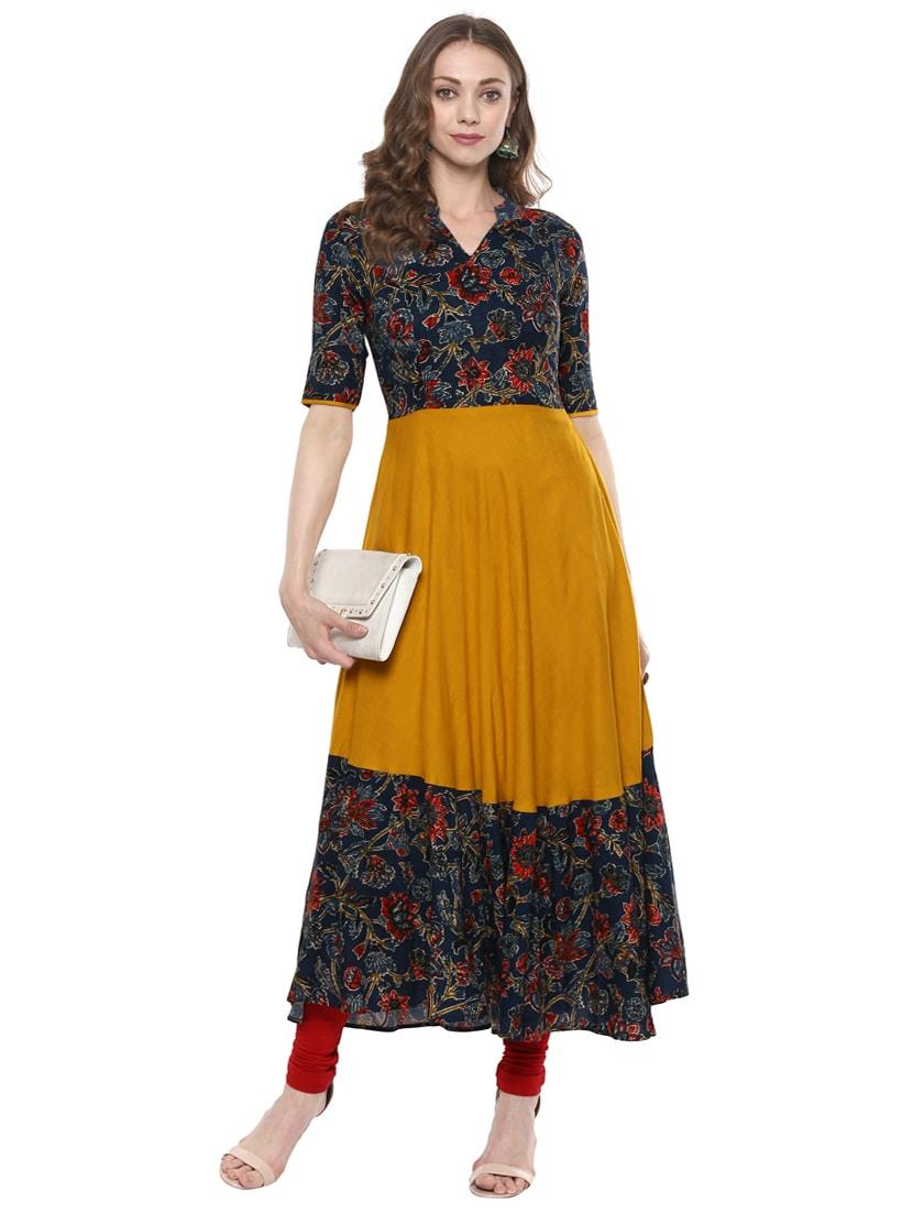 6b9a44484e Buy Kalamkari Flared Kurta for Women from Indian Virasat for ₹840 at 60%  off   2019 Limeroad.com
