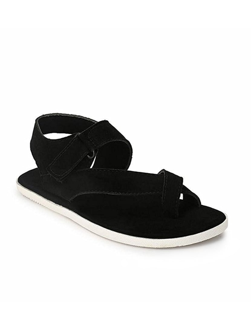 876106d70466 Buy Black Fabric Back Strap Sandal for Men from Big Fox for ₹548 at 45% off