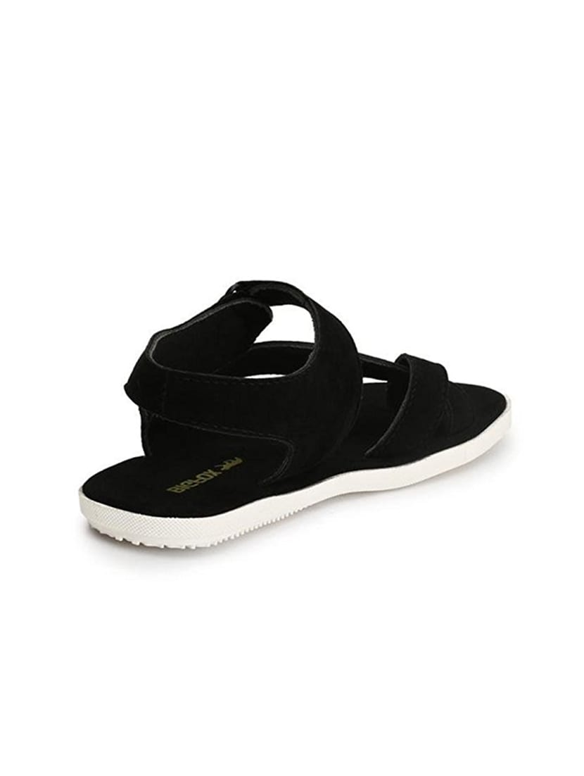 9119b657b Buy Black Fabric Back Strap Sandal for Men from Big Fox for ₹548 at 45% off