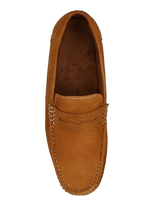 tan Suede slip on loafer - 15121181 - Standard Image - 4
