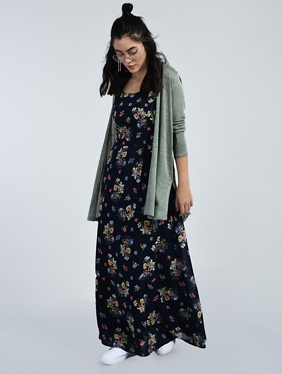 a1eaa4970bd67 Buy Floral Sleeveless Maxi Dress for Women from A K Fashion for ...
