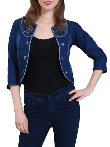 embellished casual summer jacket - 15128190 - Standard Image - 1