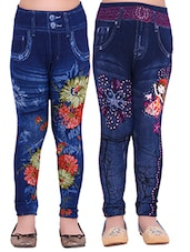 blue cotton jegging -  online shopping for jeggings