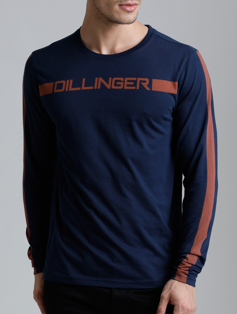 f3ad3a982b Buy Navy Blue Cotton Chest Print Tshirt by Dillinger - Online shopping for T -shirts in India